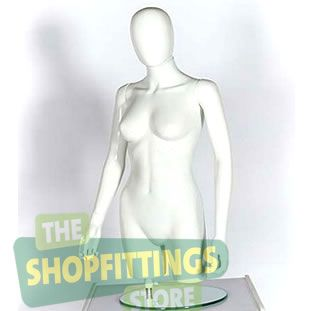 Female Torso Mannequin - Egg Head With Arms