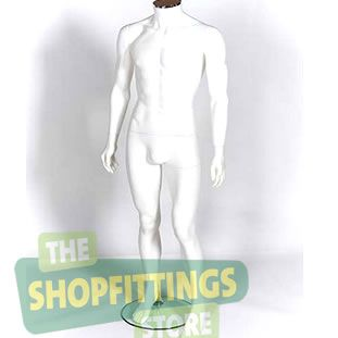 Male White Headless Mannequin 2