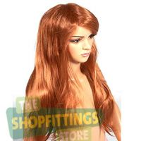 Female Mannequin Wig - Long Red / Copper Hair