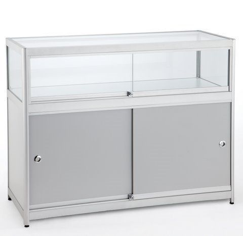 1/4 Glass Counter 1200Wx900Hx500D