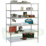 Chrome Shelving Unit - 610mm High